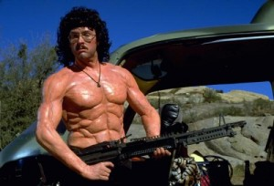 Rambo spoof. Looks like Gaumer in Junior High though.