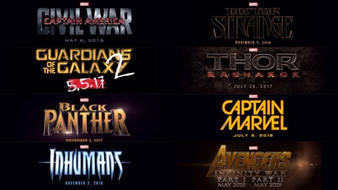 Marvel Movie 2014 update collage