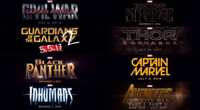 Today's Marvel Studios Announced Films Title Art