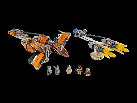 LEGO Anakin and Sebulbas Podracers