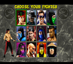 Mortal Kombat 2 - Screen Select